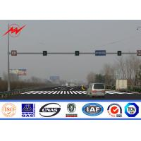 China Octagonal Steel Street Lighting Poles Traffic Light Signals With Powder Coating on sale