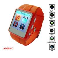 Buy cheap Promotion WMA, WAV, MP3 MP4 Player Watch With MIC Recording CE, FCC product