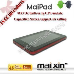 """Buy cheap Qualcomm MSM7227 7"""" PC da tabuleta de Android 2,2 com a câmera 3G interna de WIFI product"""