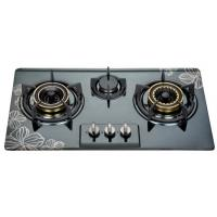 Buy cheap Built In Three Burner Gas Hob In Stainless Steel , 3 Burner Gas Cooktop 710*400mm product