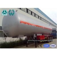 Buy cheap Customized Logo Diesel Fuel Lpg Tank Trailer 200,000 Liters , Round Shape product