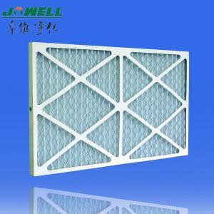 Buy cheap Выдвинутой воздушный фильтр плиссированный поверхностью с гальванизированной решеткой, фильтр картона Г3 Пре product