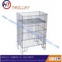Buy cheap Superstore Metal Wire Mesh Container Sample Display Racks Bilateral Cages product