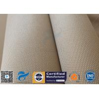 China 1150gsm 1.2mm Brown High Silica Fabric 800℃ Alumina Silica Thermal Insulation on sale