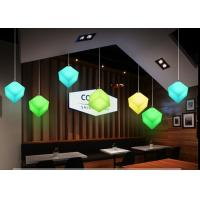 China Contemporary Style Led Light Cube For Restaurant / Colorful Led Cube Night Light on sale