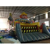 Buy cheap New Inflatable Construction Themed Obstacle Course PVC Inflatable Obstacle Course Outdoor Games product