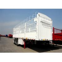 Buy cheap Tri Axle Livestock Transportation Stake Fence Cargo Truck Semi Trailer product