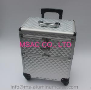 銀製色の新式のアルミニウム構造のトロリー箱