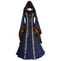 China Medieval Dress Wholesale XXS to XXXL Custom Made Sarah Navy Blue-Saffron Medieval Renaissance Victorian Dress cosplay on sale