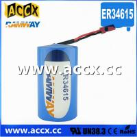 Buy cheap ER34615 with connector 3.6V 19000mAh  d cell lithium battery product