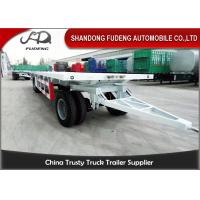 Buy cheap Farm Goods Transport Semi Flatbed Trailers With Towing Drawbar Carbon Steel Material product
