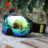 Customized Strap Mens Snowboard Goggles Anti - Scratch With Fleece / Foam