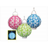 Buy cheap Green Flower Led Paper Lantern Lights Unique Design For Cultural Center product