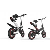 Buy cheap High Speed Lightest Smart Folding Electric Bike Inflated Tire White / Black / Red product