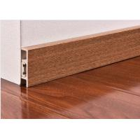 Buy cheap CE Wooden Color Waterproof PVC Vinyl Skirting Board For Floor / Wall Base product