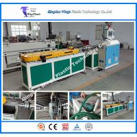 China Single Wall Corrugated Plastic Extrusion Equipment Hdpe Pipe Making Machine on sale