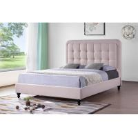 China Pink Hotel Platform Bed With Storage / Kids Twin Platform Bed High Density on sale