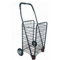China Folding Rolling Supermarket Shopping Carts, grocery cart collapsible shopping cart 4 Wheel on sale