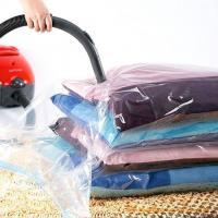 China Household Storage Vacuum Seal Garment Bags Space Saver Saving Quilt Storage Bag With Free Hand Pump on sale