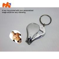 Buy cheap Sublimation Nailnippers Personalized Metal Keychains With Name And Logo DIY Gift product