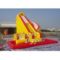 Buy cheap Custom Inflatable AdultWater Slide With Swimming Pool , Inflatable Combo Water Slide product