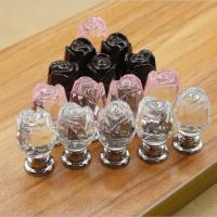 Buy cheap Flower Style Crystal Door Knobs Drawer Pulls Furniture Handles product
