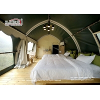 Buy cheap 4x11.5m Luxury Camping Tents Shell Shape Glamping Tent Camouflage Cover product