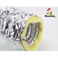 Buy cheap Silver Aluminium HVAC Duct Insulation Wrap , Fire Retardant Insulated Exhaust Duct product