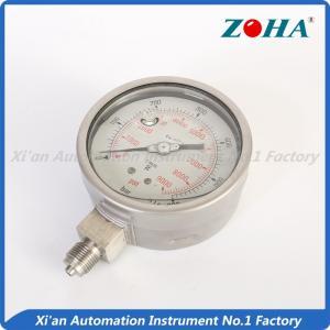 Stainless Glycerin Filled Pressure Gauge / 316 Differential Pressure Gauge