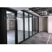 Buy cheap Top Hung Movable Glass Wall With Top&bottom Retractable Seal product