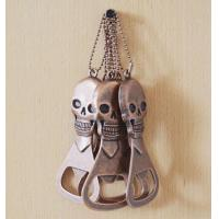 Buy cheap Beer Company Promotion Gift Antique Copper Skull Beer Bottle Opener product