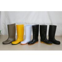China PVC Working Safety Boots with Steel Toes, Steel Mid-insole on sale