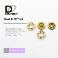 Buy cheap Fancy Gold Brass 16L Prong Snap Buttons product