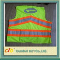 Quality Red / Green Road Security Reflective Safety Jacket Warning Vest Road Maintenance Worker for sale