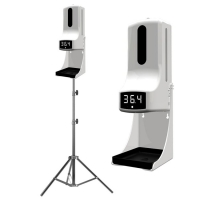 Buy cheap Upgrade K9 automatic thermometer & hand sanitizer spray dispenser battery charging support 12 different language product