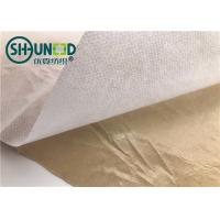 China Eco Friendly Fusible Non Woven Interlining Fabric With Yellow Adhesive Release Paper on sale