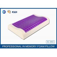 China Small Ice Cooling Gel Contour Visco - Elastic Memory Foam Pillow Covered Bamboo Pillowcase wholesale