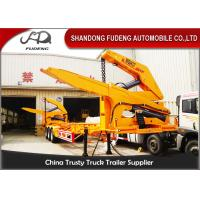 Buy cheap MQH37A 37 Ton Container Side Lifter Trailer Side Loader Truck Trailer  20ft 40ft product