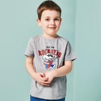 Buy cheap 100% Organic Cotton Blank Print T Shirt Kids Clothes , Girls And Boys Summer Clothes product