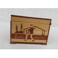 China Tarot Card Packaging Pine Wooden Storage Box With Lacquer Customized Logo on sale