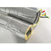 Buy cheap Round 4 Inch Flexible HVAC Duct Insulation Wrap Insulated Aluminum Small Bending Radius product