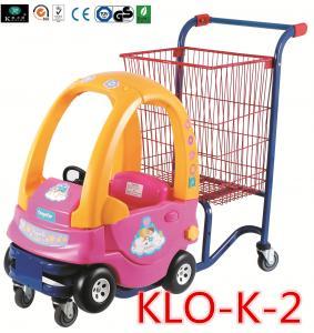 Buy cheap Красный порошок покрыл нажимать магазинные тележкаи малышей с автомобилем игрушки/вагонеткой покупкы для малышей product
