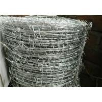 China Galvanized Stainless Steel Barbed Wire , Security Razor WireDouble Twisted on sale
