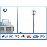 Buy cheap Microwave Telecommunication electric service pole , Hot Roll Steel Q420 wireless communication towers from wholesalers