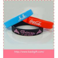 Custom Debossed Silicone Wristband With Color Filled