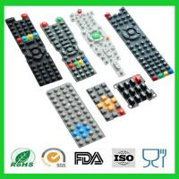 Quality Waterproof Printing TV Remote Control Conductive Silicone Rubber Keypads for sale