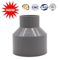 China DIN PN10 Water Supply Pipes And Fittings Gray UPVC Reducer Solvent Joint on sale