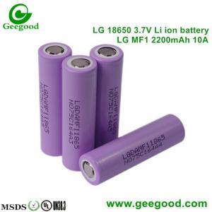 China Geniune hot sale LG MF1 MF2 2200mah 10A/5C 18650 3.7V Li-ion battery for scooter / e-bike / power tools on sale