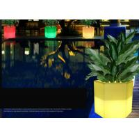 China PE Rechargeable Plastic Solar Glow In The Dark Flower Pots 16 Colors Changing wholesale