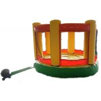 China Yellow color indoor inflatable bouncers and single inflatable bouncers for kids castles on sale